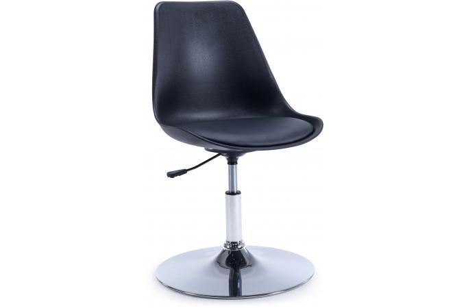 chaise de bureau r haussable noire leed design sur sofactory. Black Bedroom Furniture Sets. Home Design Ideas