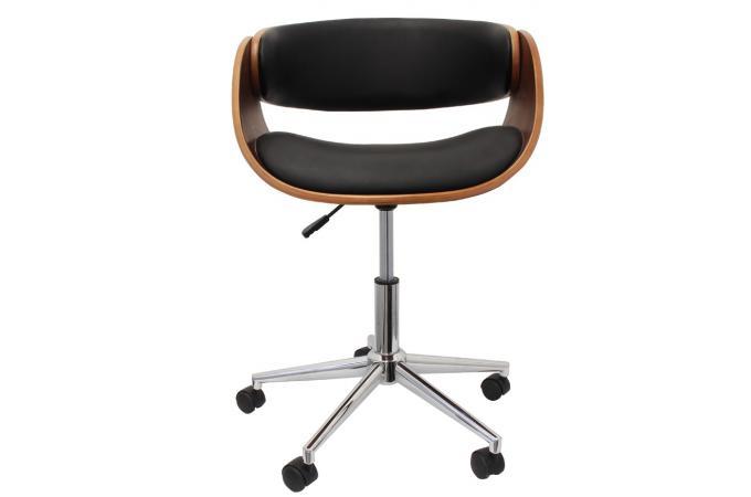 Chaise De Bureau Retro Noire Novela Design Sur Sofactory