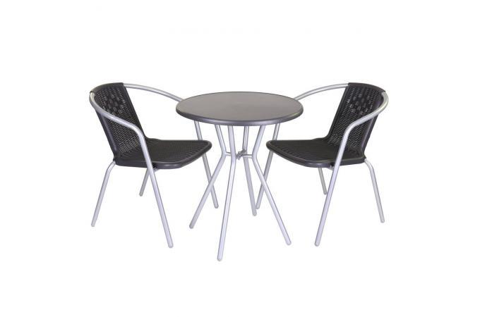 Chaise de Jardin Gris Noir ELIO design sur SoFactory