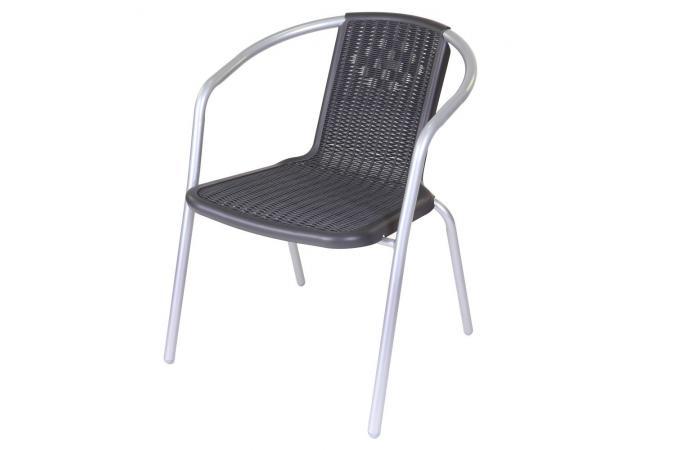 chaise de jardin gris noir elio design sur sofactory. Black Bedroom Furniture Sets. Home Design Ideas