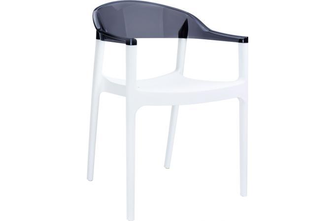 Chaise Design Blanche Bicolore Transparente JAVIER