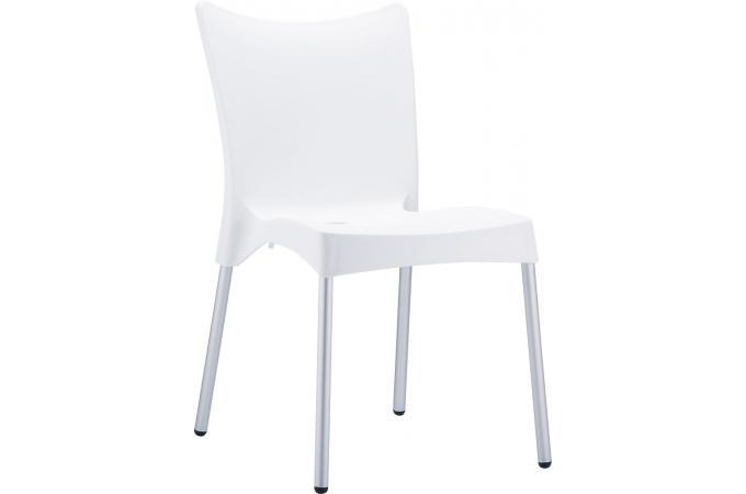 Chaise design blanche john design pas cher sur sofactory - Chaise resine blanche ...