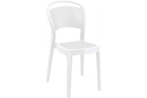 Chaise design blanche laqu e soubi design pas cher sur - Chaise laquee blanche ...