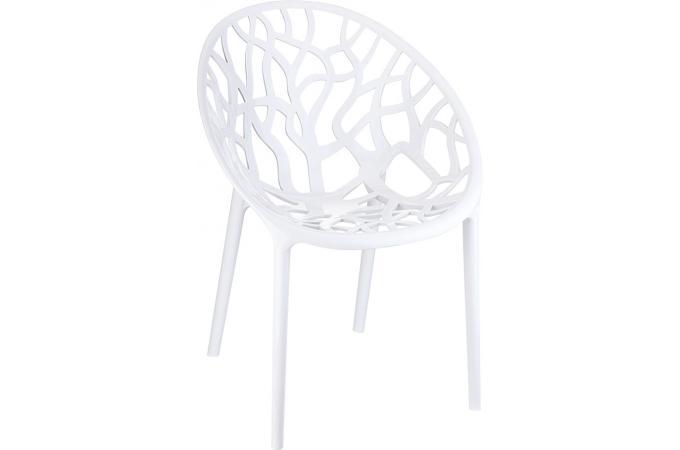 Chaise design blanche laqu e ceylan design pas cher sur - Chaise laquee blanche ...