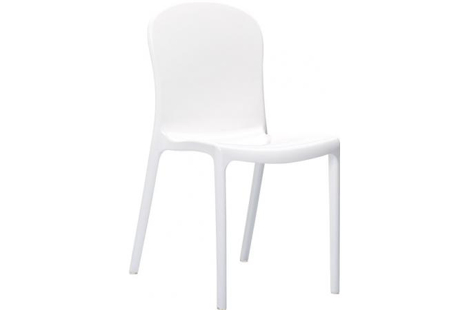 chaise design blanche laqu e voly design sur sofactory. Black Bedroom Furniture Sets. Home Design Ideas