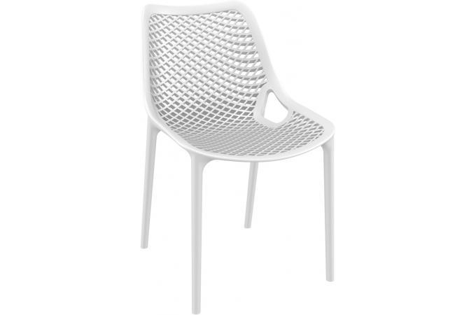 Chaise design blanche menaz design en direct de l 39 usine sur sofactory - Chaise resine blanche ...