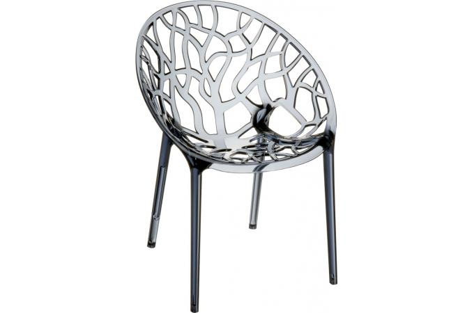 chaise design grise anthracite transparente ceylan design sur sofactory. Black Bedroom Furniture Sets. Home Design Ideas