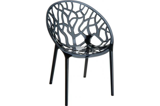 chaise design noire transparente ceylan - Chaise Noire Design