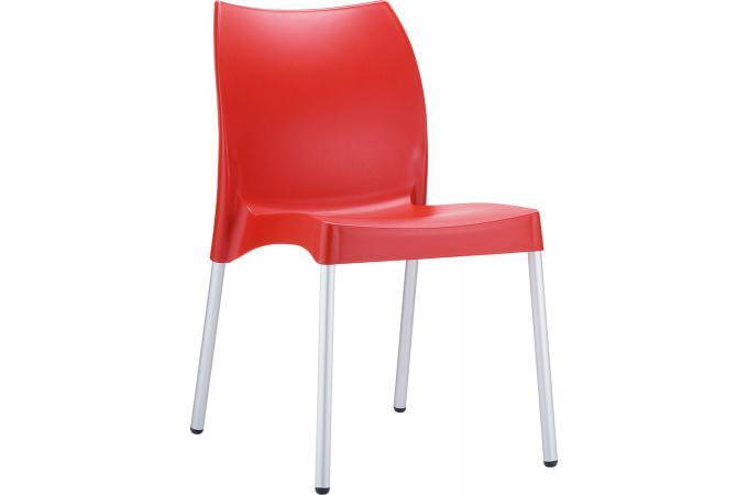 Chaise design rouge miloou design sur sofactory - Chaise rouge design ...