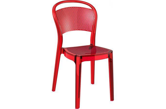 Chaise design rouge transparent soubi design sur sofactory - Chaise rouge design ...
