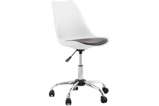 Chaise design blanche pivotante juan design sur sofactory for Chaise pivotante design
