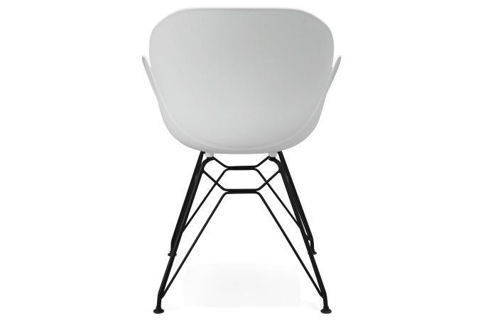 Chaise Design En Plastique Blanc EDEN