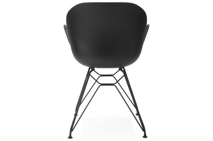 chaise design en plastique noir eden design sur sofactory. Black Bedroom Furniture Sets. Home Design Ideas