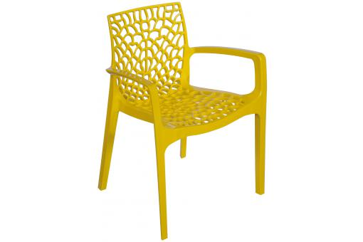 Chaise Design Jaune Avec Accoudoirs FILET SoFactory