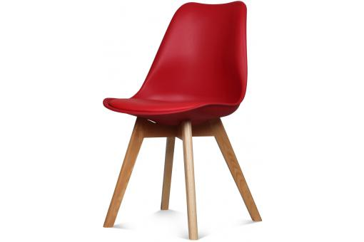 Chaise Design Style Scandinave Rouge SWEDEN