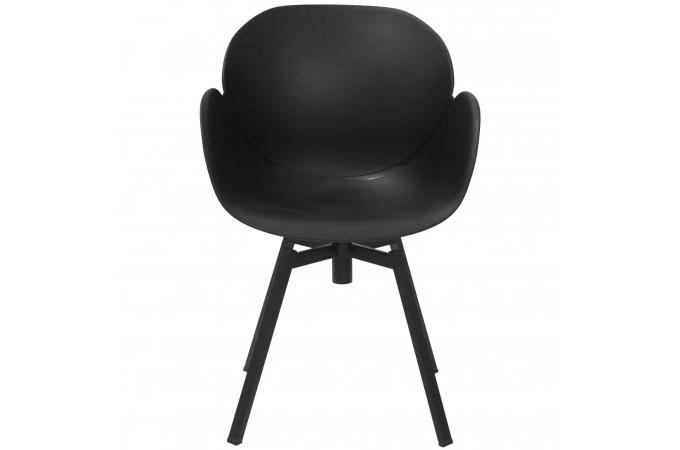 Chaise design scandinave noire evana design sur sofactory for Chaise noir scandinave