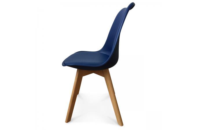 Chaise Design Style Scandinave Bleu Marine SWEDEN