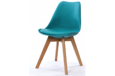 Chaise Design Style Scandinave Turquoise SWEDEN