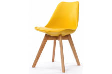Chaise Design Style Scandinave Jaune SWEDEN Sofactory