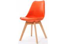 Chaise Design Style Scandinave Orange SWEDEN Sofactory