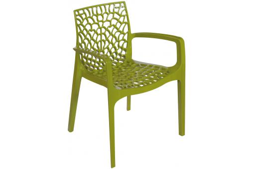 Chaise Design Vert Anis Avec Accoudoirs FILET SoFactory