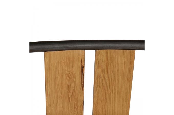 Chaise empilable ch ne massif m tal tucson design sur for Chaises empilables