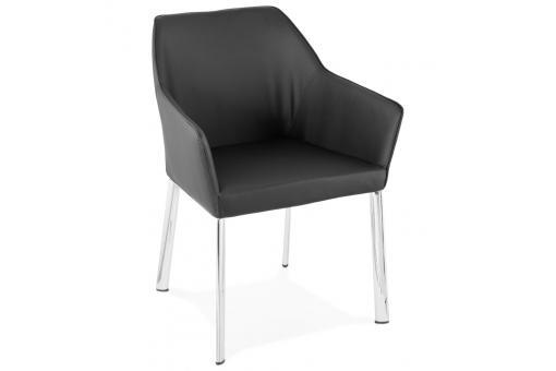 chaise en simili cuir noir gordon design_225730_510x340jpg - Bahut Noir Bois