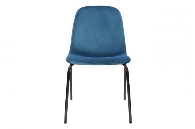 Chaise En Velours Bleu Canard VELTOVI