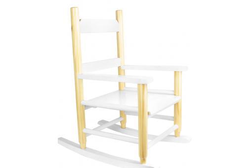chaise enfant bascule scandinave blanc atela design sur. Black Bedroom Furniture Sets. Home Design Ideas