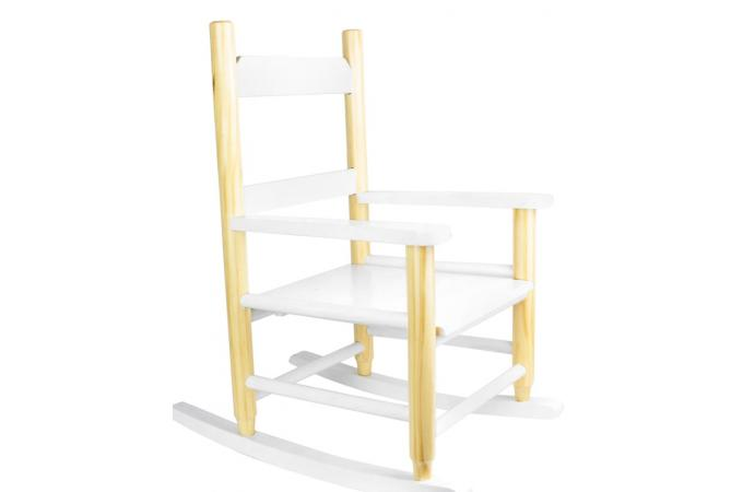 Chaise Enfant à Bascule Scandinave Blanc Atela Design Sur Sofactory