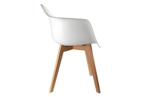 Chaise Enfant avec Accoudoirs Scandinave Blanc BABY NORWAY Blanc CM228302-0000
