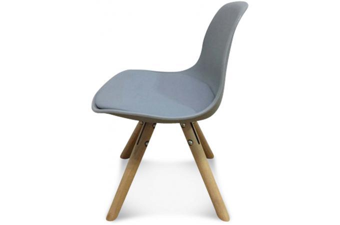 chaise enfant mini scandinave grise beno design sur sofactory. Black Bedroom Furniture Sets. Home Design Ideas