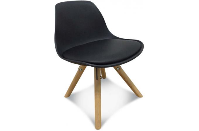 chaise enfant mini scandinave noire beno design sur sofactory. Black Bedroom Furniture Sets. Home Design Ideas