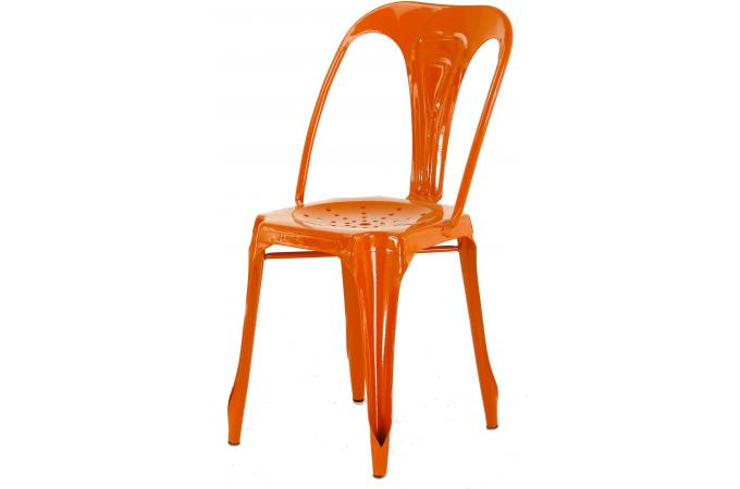 chaise industrielle orange samson - Chaise Orange