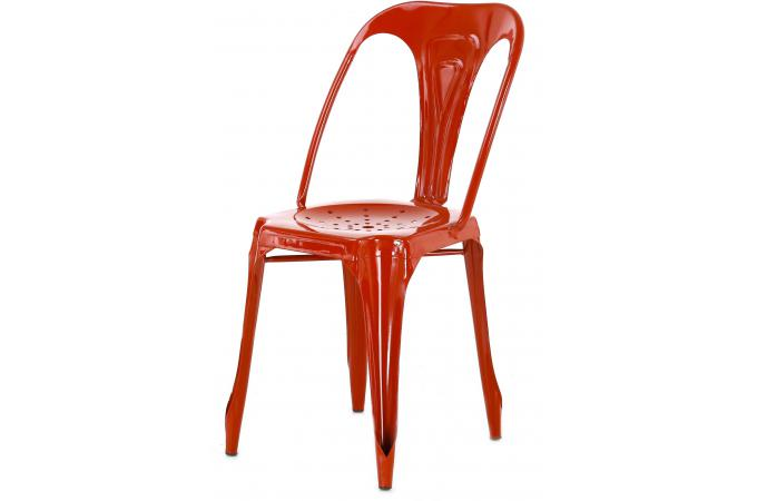 Chaise Industrielle Rouge SAMSON