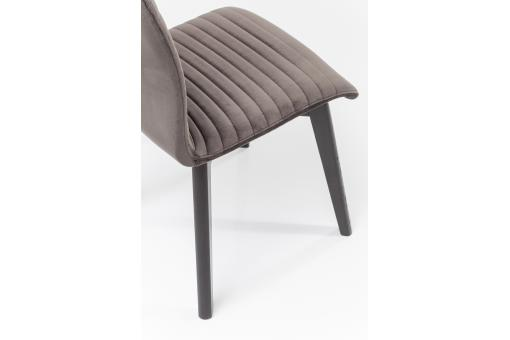 Chaise Impression Velours Anthracite LORENA Gris Ka227562-0000
