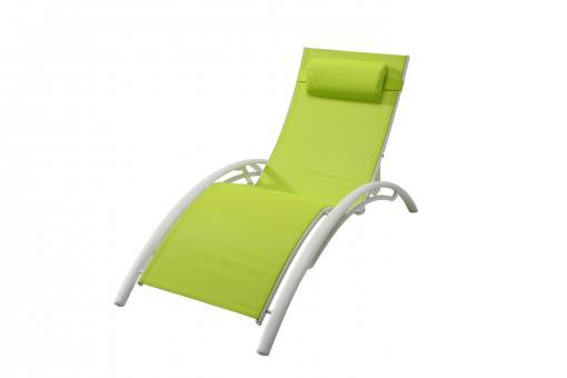 chaise longue 179x66cm blanche verte chichini design sur sofactory. Black Bedroom Furniture Sets. Home Design Ideas