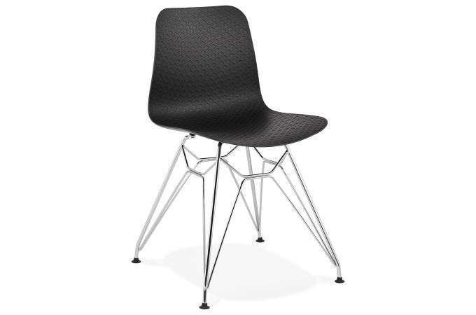 chaise noire pitement argent simancas - Chaise Noire Design