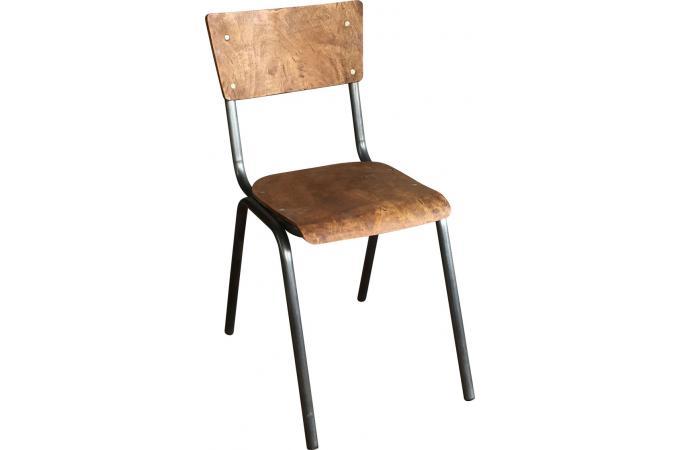 chaise style ecolier en m tal et bois juilly design sur sofactory. Black Bedroom Furniture Sets. Home Design Ideas