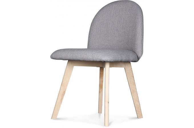 Chaise style scandinave tissu grise gori design sur sofactory for Chaise grise scandinave