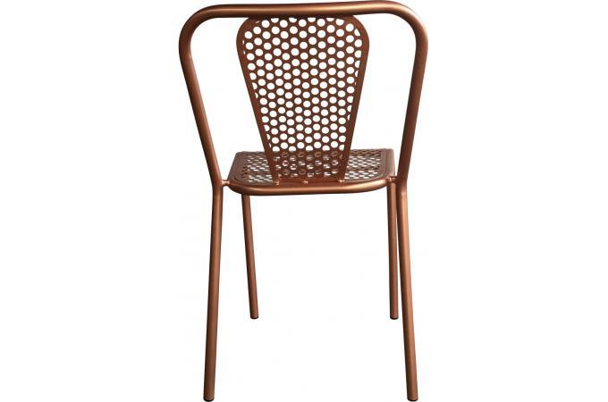 Chaise Style Vintage En Métal Couleur Cuivré Gudrun Design Sur