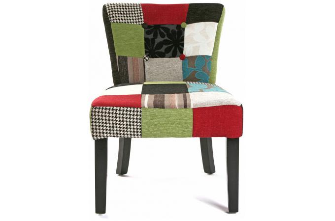 Chaise patchwork multicolore clarence design sur sofactory for Chaise multicolore
