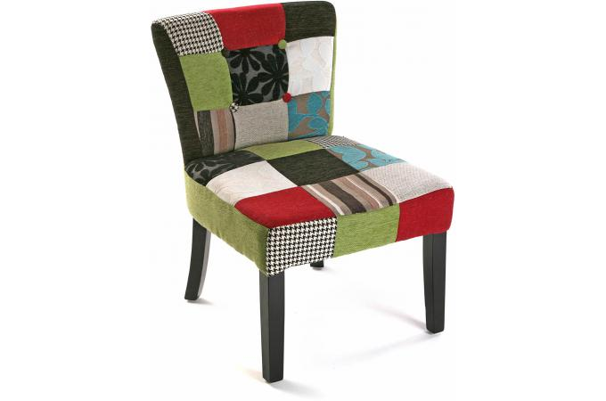 chaise patchwork multicolore clarence design sur sofactory. Black Bedroom Furniture Sets. Home Design Ideas