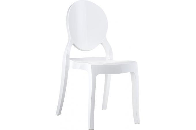 chaise plexi blanc elizabeth design sur sofactory. Black Bedroom Furniture Sets. Home Design Ideas