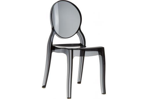 chaise plexi noir transparent elizabeth - Chaise Plexi Transparente