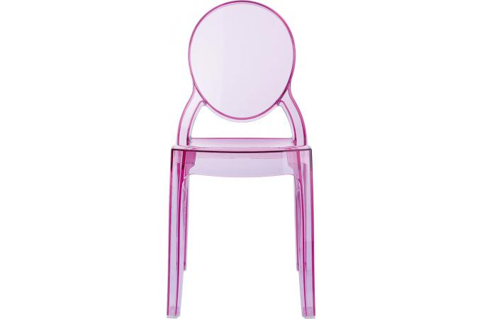Chaise plexi rose transparent BABY ELIZABETH