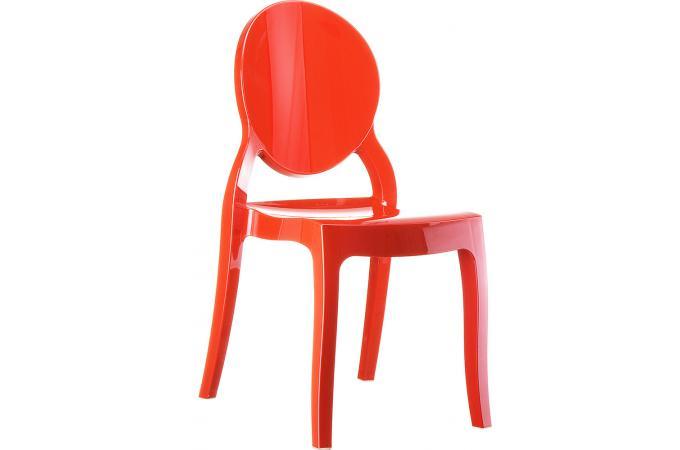 chaise plexi rouge elizabeth design pas cher sur sofactory. Black Bedroom Furniture Sets. Home Design Ideas