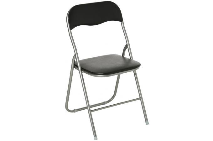 Structure Noire Design Acier Sipli Chaise En Argent Sur Pliante CoedBx