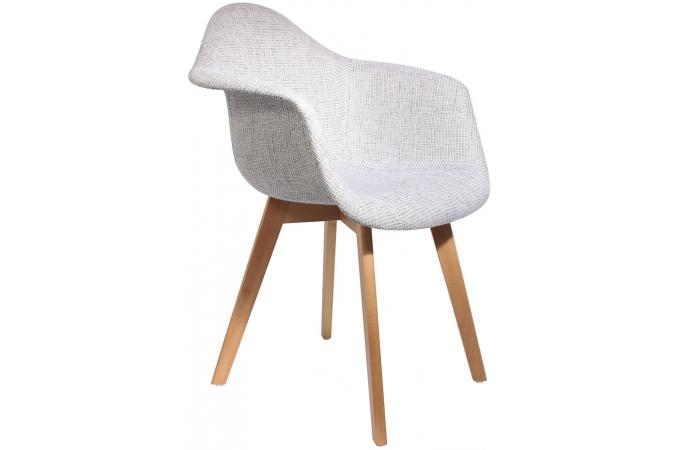 Chaise Scandinave Avec Accoudoir En Maille Grise Norway