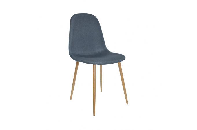 lot de 4 chaises scandinaves bleu outan - Chaises Scandinaves Bleu